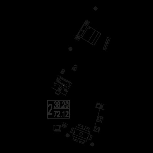 2-комнатная квартира № 112