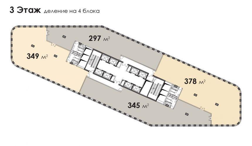 Офис в бизнес-центре «БЦ Stone Белорусская», 348,8 м2 за 78 131 200 руб.