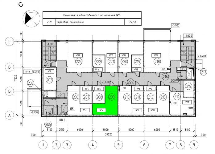 Торговое помещение в ТЦ «Дуэт», 27,58 м2 за 60 676 руб.