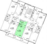 1-комнатная квартира 27.94 м²