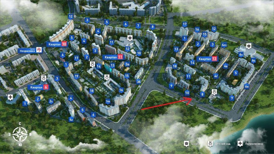 ПСН в ЖК «Некрасовка», 135,3 м2 за 17 589 000 руб.