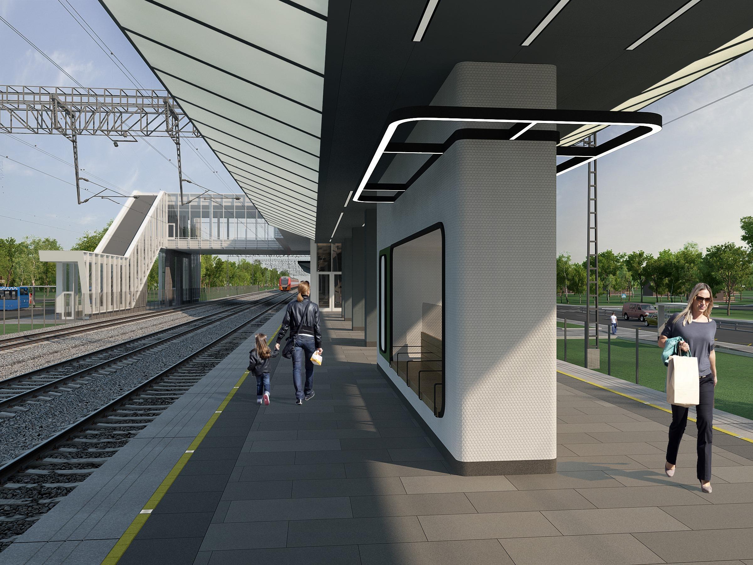 Завершается реконструкция станции МЦД‑1 «Новодачная»