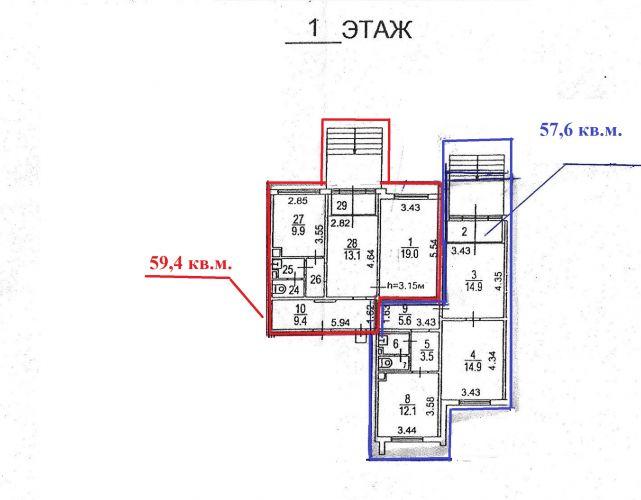ПСН в жилом доме «Шипиловский проезд», 57,6 м2 за 8 640 000 руб.