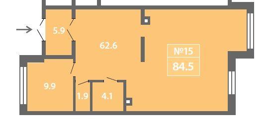 ПСН в ЖК «Лучи», 84,51 м2 за 16 479 450 руб.