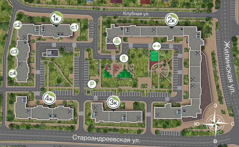 Продажа коммерческой недвижимости в ЖК «Андреевка» в городе Солнечногорск в рабочем поселке Андреевка