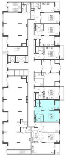 1-комнатная квартира, 35,7 м² за 2,77 млн руб.