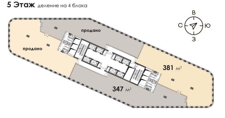 Офис в бизнес-центре «БЦ Stone Белорусская», 381,08 м2 за 89 172 720 руб.