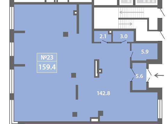 ПСН в ЖК «Лучи», 159,42 м2 за 24 710 100 руб.