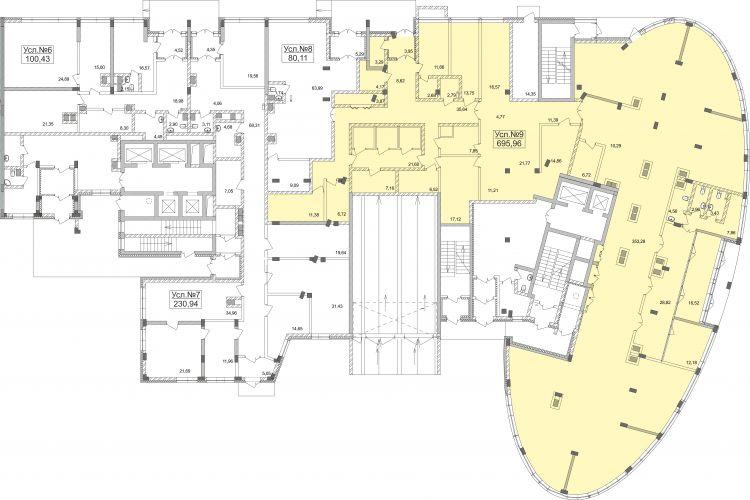 ПСН в жилом доме «Планерный», 695,96 м2 за 173 990 000 руб.