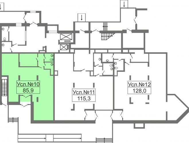 Торговое помещение в ЖК «Лидер Парк Мытищи», 85,9 м2 за 14 603 000 руб.
