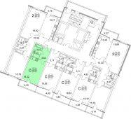 1-комнатная квартира 28.37 м²