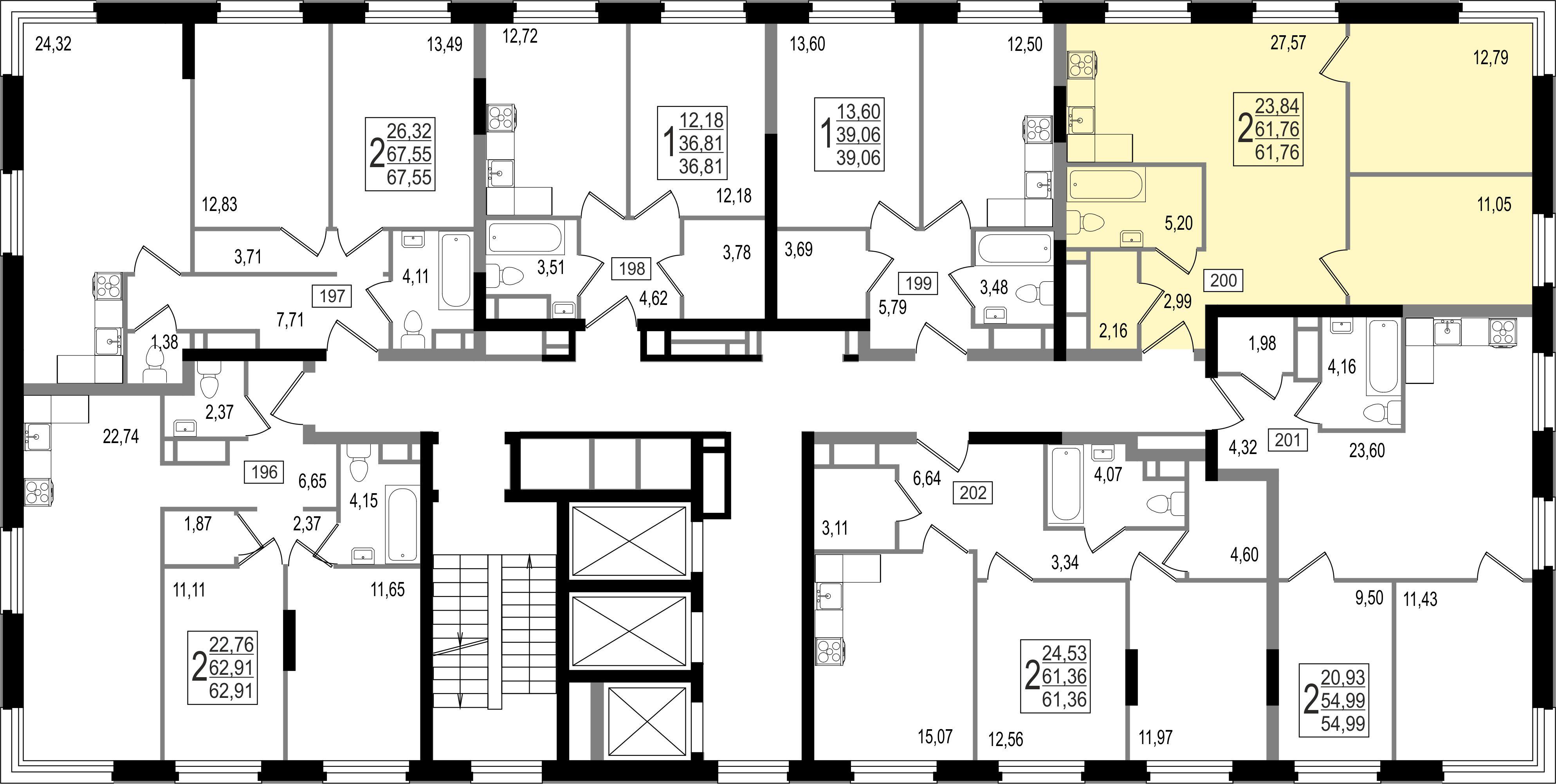2-комнатная квартира, №26
