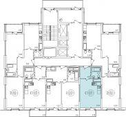 1-комнатная квартира 30.71 м²