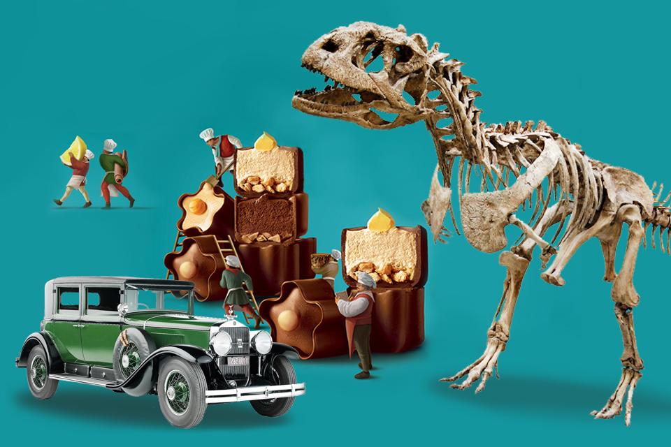 Динозавры, ретро-автомобили и прогулки в темноте