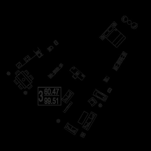 3-комнатная квартира № 35